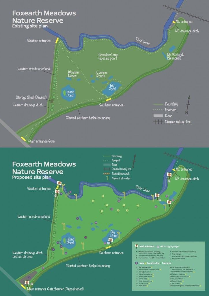 Foxearth Meadows Nature Reserve Site Map