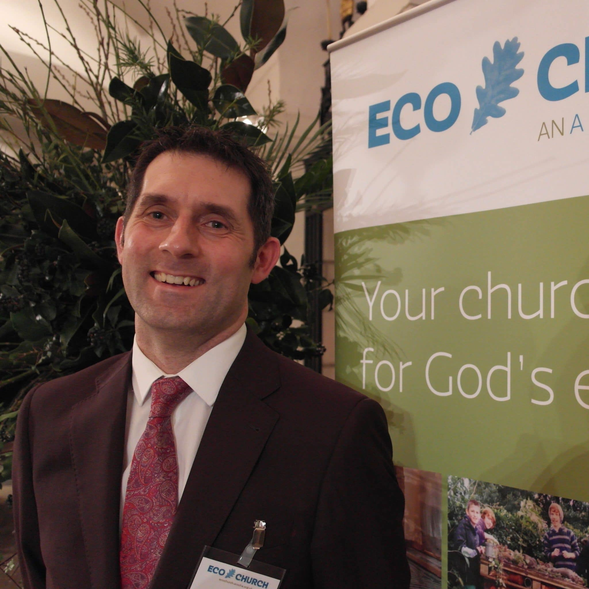 Nigel Hopper of A Rocha UK, advertising Eco-Church
