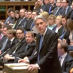 Chancellor Philip Hammon delivers the Spring Statement