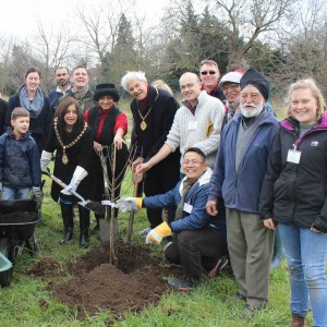 mayor planting at wolf fields (1)
