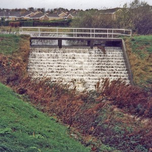 Balance Pond Dam at Lea Brook Valley
