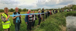 150 people cut the eco-ribbon at Foxearth Meadows